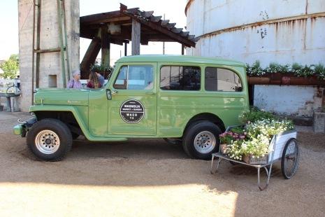 Vintage Car at the Silos