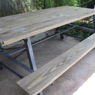 Table Left Behind by Previous Owners